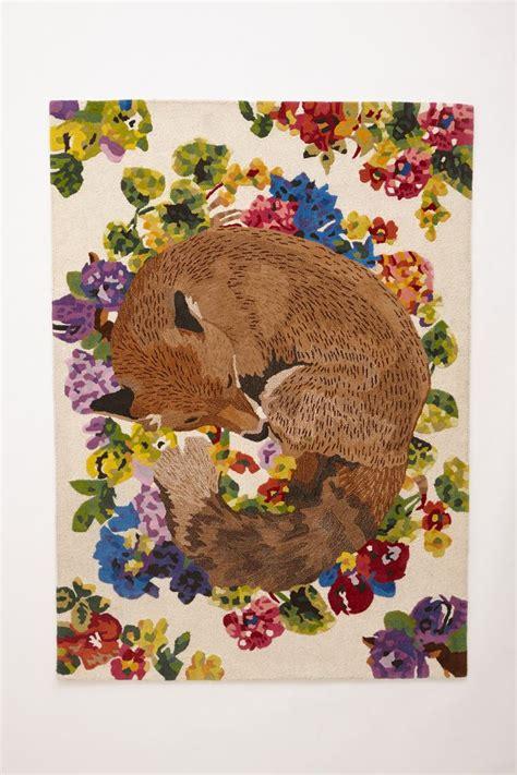 silent fox rug foxes