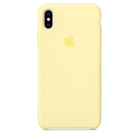 iphone xs max silicone mellow yellow apple ca