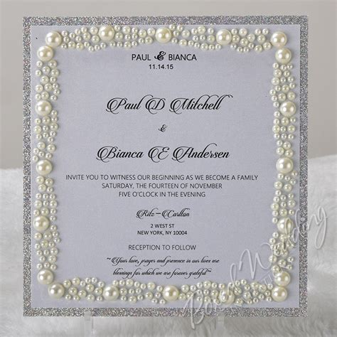 wedding invitations with pearls etiquette and wedding invitations boxed wedding invitations