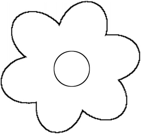 flower cut out template flower templates to cut out clipart best