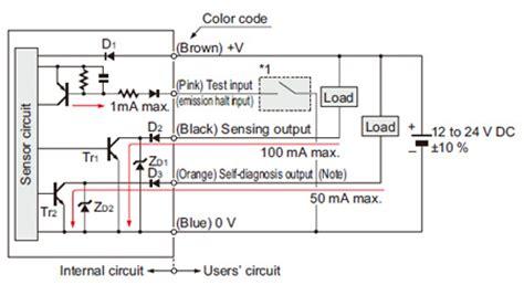 photoelectric sensor circuit diagram robust photoelectric sensor rx i o circuit and wiring