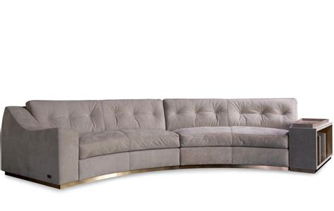circus sofa semi circular sofa with open shelf golden circus rugiano