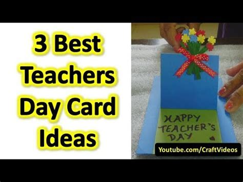 teachers day card ideas teachers day card ideas best and easy teachers day