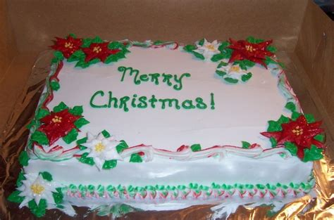 sheet cakes christmas decorated pictures poinsettia 9x13 sheet cake creations