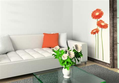 weisses wohnzimmer wandtattoos wohnzimmer orange gerbera wei 223 es sofa