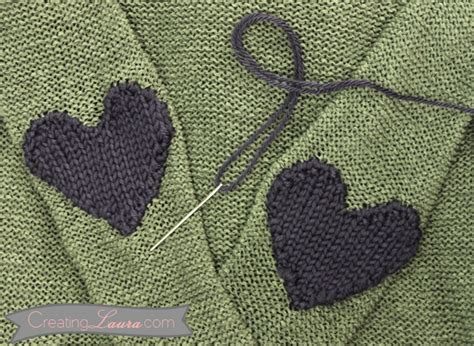 creating laura elbow patch knitting pattern