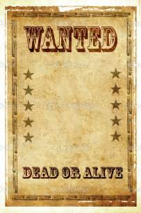wanted dead or alive poster template free best photos of wanted dead or alive poster template
