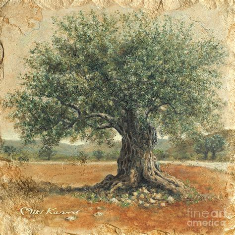 olive art ancient olive tree painting ancient olive tree fine art