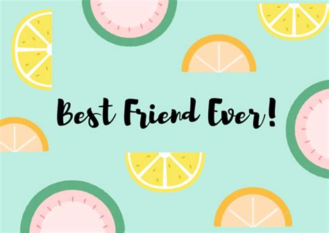 free best friend card templates friendship thank you note wording exles free resource