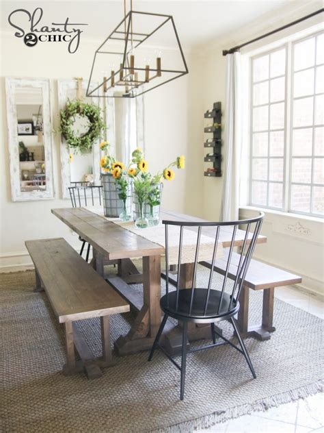 farmhouse dining room chairs diy farmhouse dining bench plans and tutorial shanty 2 chic