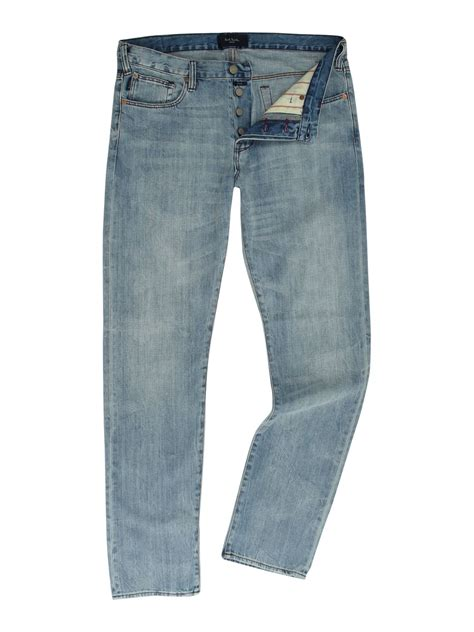 Light Wash Denim by Paul Smith Tapered Pima Light Wash In For Denim