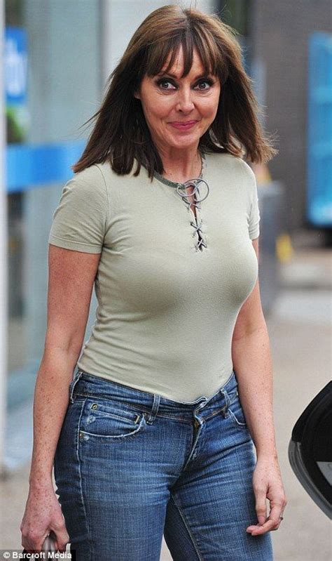 jeans for a 48 year old woman carol vorderman shows off her figure in skintight top and