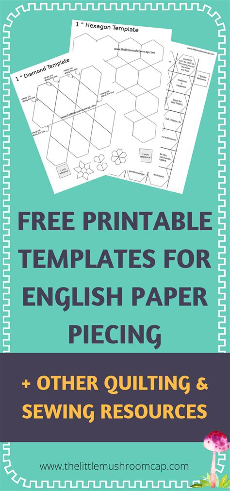 hexagon templates for paper piecing easy to use and free paper piecing template free