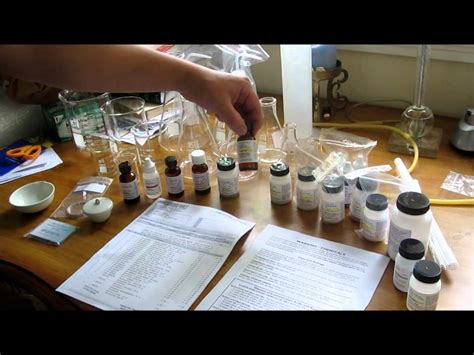 unboxing chemical reagents and glassware from home science