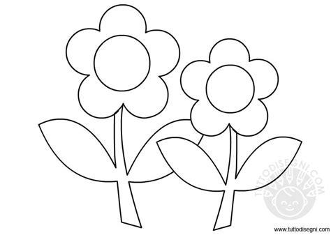 fiore da colorare e ritagliare fiori con foglie da colorare tuttodisegni