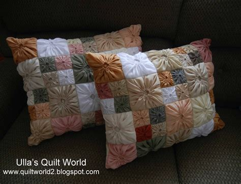 Patchwork Pillowcase Pattern - ulla s quilt world square yo yo pattern quilted pillowcase