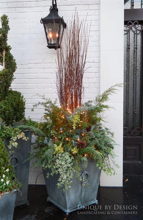 outdoor winter planter ideas container garden winter container design winter container garden using greenery in containers