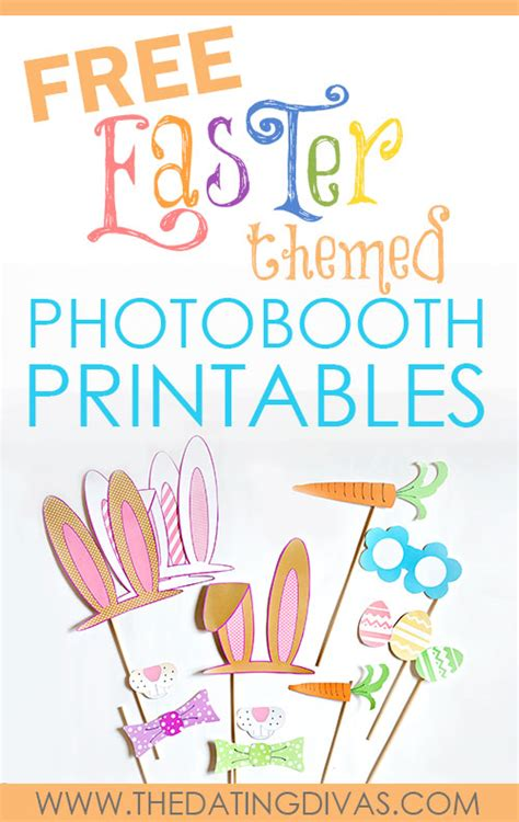 printable easter photo booth props free easter themed photobooth printables