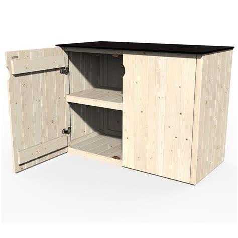 armoire bois jardin armoire de jardin bois vertigo l112 h91 cm plantes et