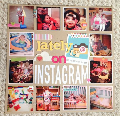 instagram scrapbook layout craftdrawer crafts freebies and top posts for the new