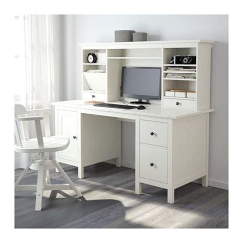 hemnes desk with add on unit white stain stains
