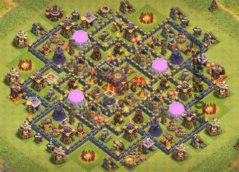 update layout coc top 12 best th10 hybrid base 2018 new update anti
