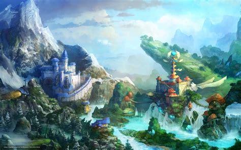 Beautiful From World Artbook wallpaper castle bridges