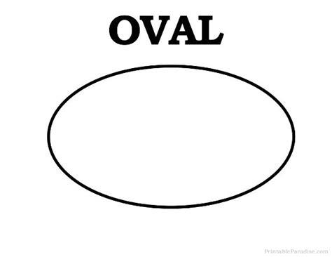printable oval shape learning pinterest shape