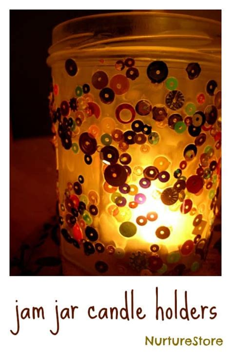 candle crafts for jam jar candle holder craft