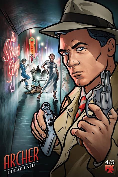 the official poster for archer dreamland archerfx