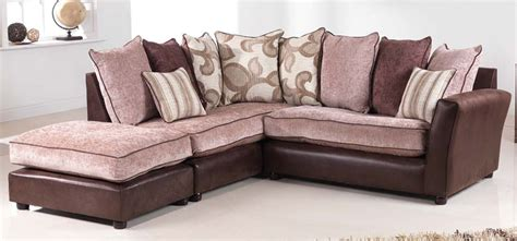 brown fabric corner sofa sorrento brown fabric corner sofa lhf sofashop com