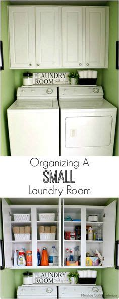 Small Laundry Room Makeover Our House Pinterest Organizing Laundry Room Cabinets