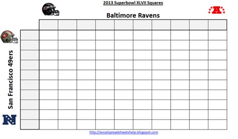 printable superbowl squares template excel spreadsheets help printable bowl squares 2013