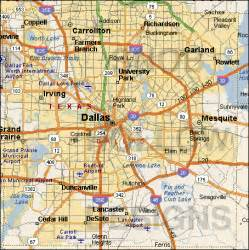 dallas on map dallas map free printable maps