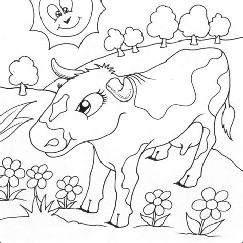 Coloring In Pictures Cow Colouring Pictures by Coloring In Pictures