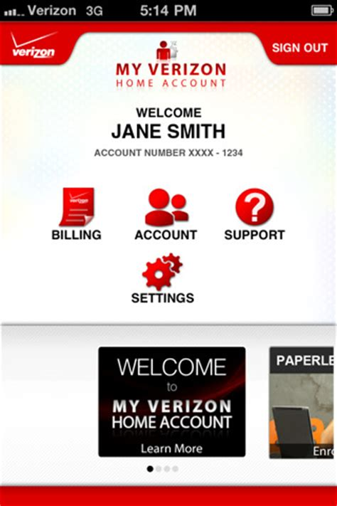 my verizon home account app for iphone utilities