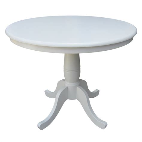 36 Pedestal Dining Table Linen White 36 Quot Diameter Top Pedestal Dining Table K31 36rt International Concepts