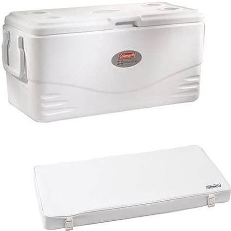 coleman marine cooler seat coleman 100qt marine white cooler with bonus cooler seat