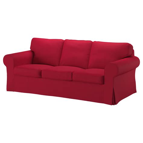 sofa red ektorp three seat sofa nordvalla red ikea