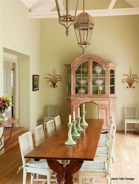 rustic style dining room   french country home  soft