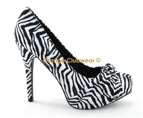zebra print shoes for pinup womens zebra print pleated knot front