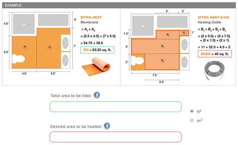 ditra heat calculator - Ditra Heat Mat Spacing
