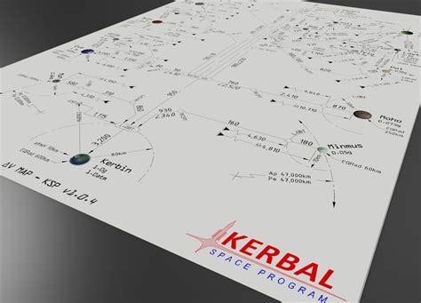 ksp delta v map kerbal space program v1 0 4 delta v map dwg pdf 2d autocad 3d cad model grabcad