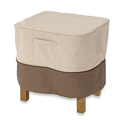 Classic Accessories 174 Veranda Large Square Ottoman Side Ottoman Side Table
