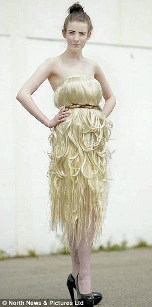 Dress Made From Human Hair Would You Wear It by Frock Of Locks The Dress Made Entirely Of Human Hair
