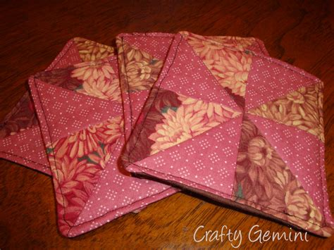 free pattern quilted coasters quilted drink coasters tutorial crafty gemini