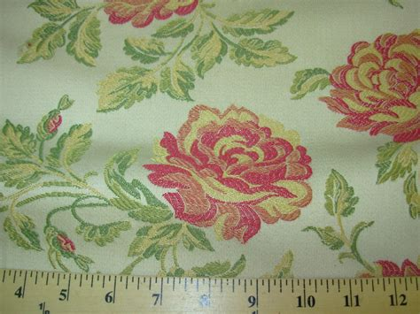 Embroidered Upholstery Fabric by Bty Flowers Floral Embroidered Upholstery Fabric