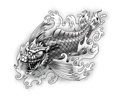 24 latest dragon fish tattoo designs collection of 25 koi fish dragon tattoo design