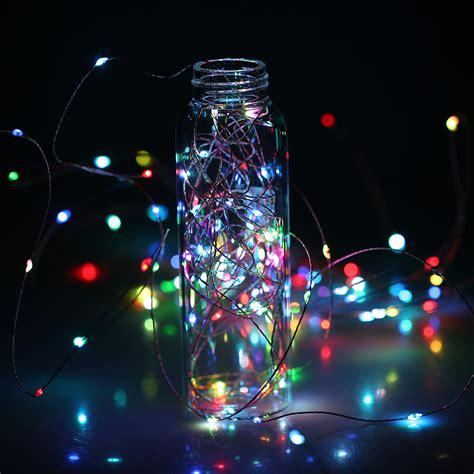 10m 100led flexible copper string auto chasing rgb starry