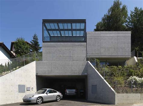 house car parking designs davide macullo architects switzerland e architect